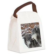 x10 shn wolf Canvas Lunch Bag