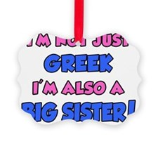 Greek Plus Big Sister Picture Ornament