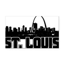 St. Louis Skyline Rectangle Car Magnet