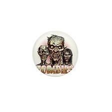 zombies Mini Button