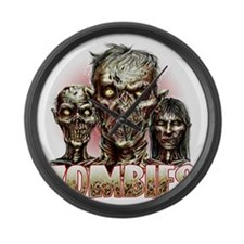 zombies Large Wall Clock
