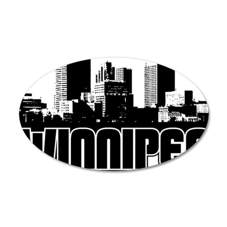 Winnipeg Skyline 35x21 Oval Wall Decal
