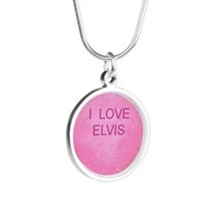HEART ELVIS Silver Round Necklace
