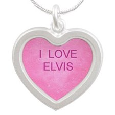 HEART ELVIS Silver Heart Necklace