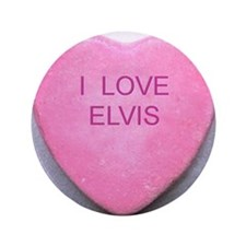 "HEART ELVIS 3.5"" Button"
