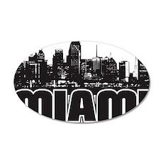 Miami Skyline 35x21 Oval Wall Decal