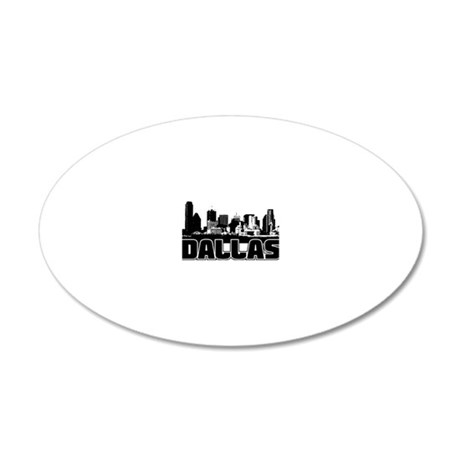 Dallas Skyline 20x12 Oval Wall Decal