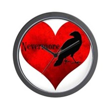 HEART_Crow Wall Clock