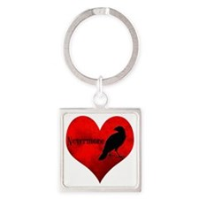 HEART_Crow Square Keychain