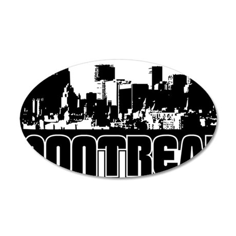 Montreal Skyline 35x21 Oval Wall Decal
