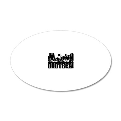 Montreal Skyline 20x12 Oval Wall Decal