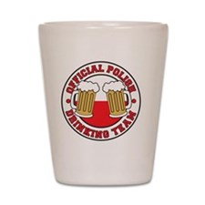 Official Polish Drinking Team Shirt Shot Glass