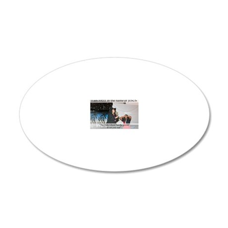 free 20x12 Oval Wall Decal