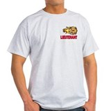 Fire Department Lieutenant Ash Grey T-Shirt