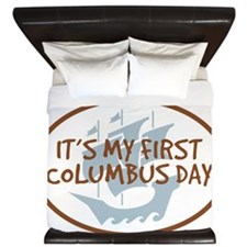 Babys First Columbus Day King Duvet