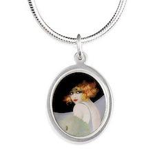IPAD 3 ADA IPAD Silver Oval Necklace