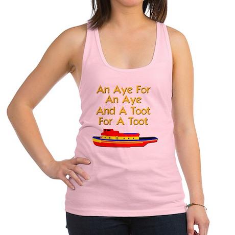 funny boat ship tugboat captain Racerback Tank Top
