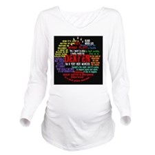dextercollagebutton Long Sleeve Maternity T-Shirt