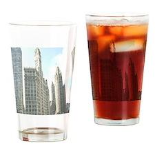 WRIGLEYBUILDING1 Drinking Glass