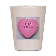 HEART SHAWN Shot Glass