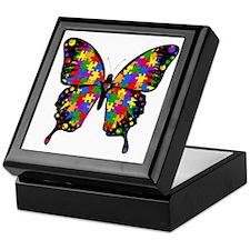 autismbutterfly6inch Keepsake Box