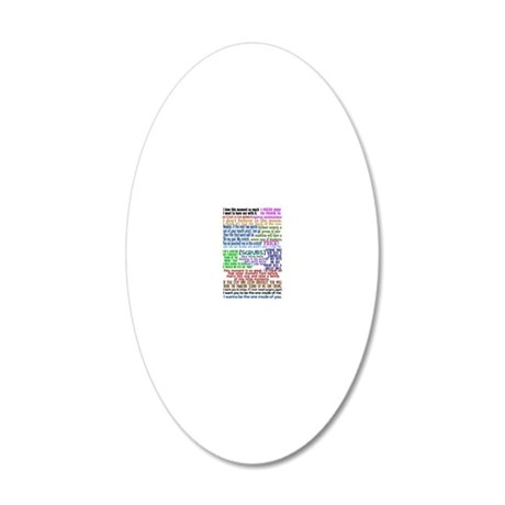 scrubscollagejournal 20x12 Oval Wall Decal