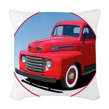 1948-50 F-1-C10trans Woven Throw Pillow