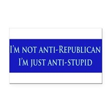 Cute Anti war Rectangle Car Magnet