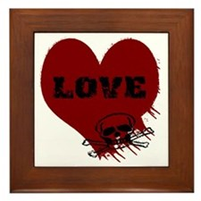 love_skull_dark Framed Tile