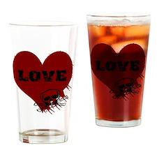 love_skull_dark Drinking Glass