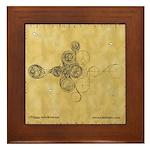 Celtic Spiral Manuscript Framed Tile