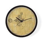Celtic Spiral Manuscript Wall Clock