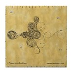 Celtic Spiral Manuscript Tile Coaster