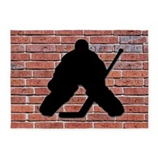 Hockey Goalie Brick Wall 5'x7'Area Rug