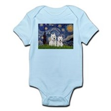 Starry-2Westies (custom) Infant Bodysuit