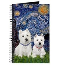 Starry-2Westies (Custom) Journal