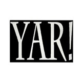 Yar! w/o border Rectangle Magnet