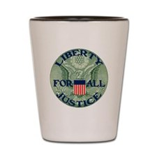 Eagle With Liberty  Justice for All II Shot Glass