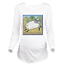 SheepTshirt Long Sleeve Maternity T-Shirt