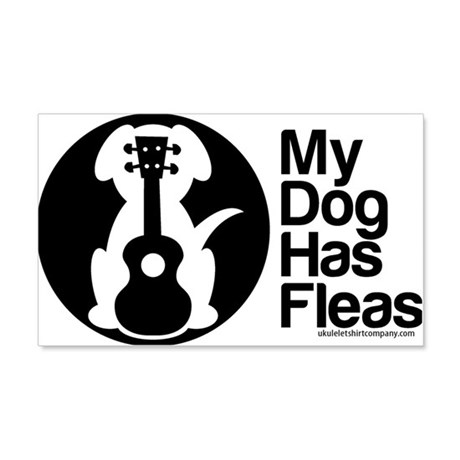 My Dog Has Fleas Ukulele 20x12 Wall Decal
