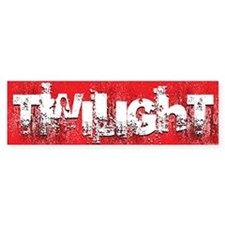 twilight large wall peel red copy Bumper Sticker
