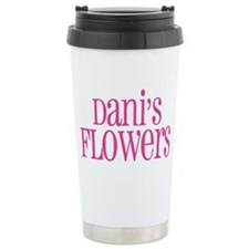 big pink 4 black Ceramic Travel Mug