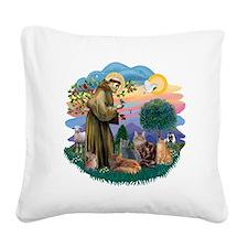 St Francis (ff) - Rev 2 - 4 c Square Canvas Pillow