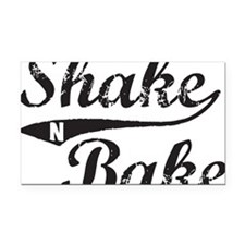 Shake and Bake Black Rectangle Car Magnet