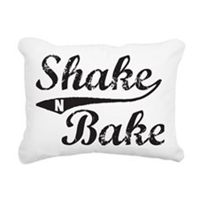 Shake and Bake Black Rectangular Canvas Pillow