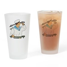 Navy Soldier Drinking Glass