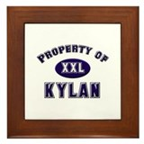 Property of kylan Framed Tile