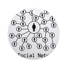 My_Social_Network_Hers Round Ornament