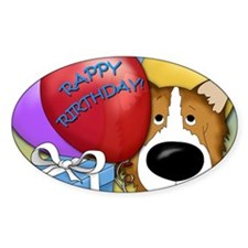 CollieBDayCard Decal