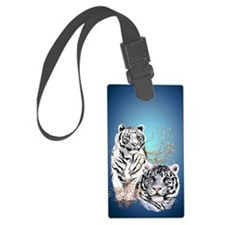 Two White Tigers  441_iphone_cas Luggage Tag